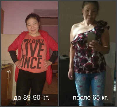 История похудения ло и после Айнур Касенгали с Zen Project 8 Jeunesse GL