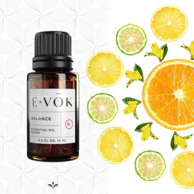 E-VOK - смеси эфирных масел, популярная цитрусовая смесь баланс