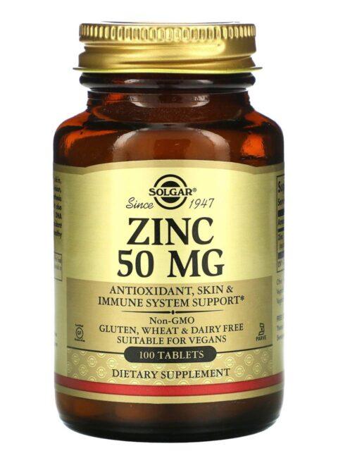 Цинк Солгар 50 мг 100 таблеток